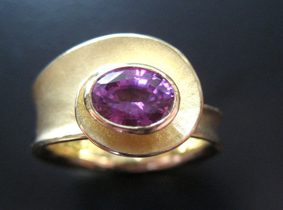 Oval Spiral Ring