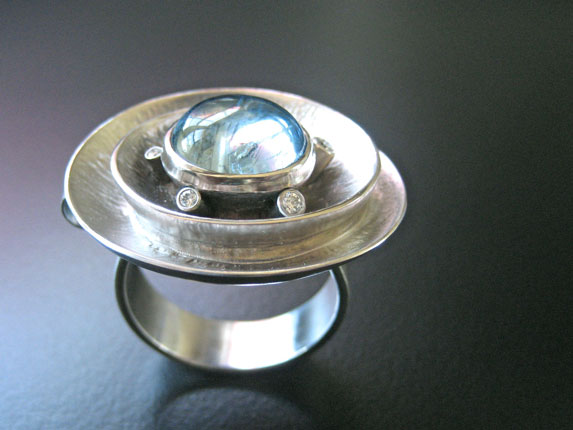 Dramatic Oval Spiral Ring/Pendant