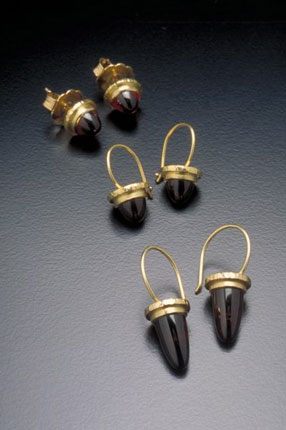 Bullet Cabochon Earrings