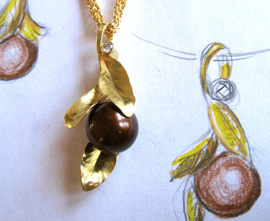 Chocolate Pearl Pendant
