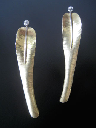 Medium Feather Earrings
