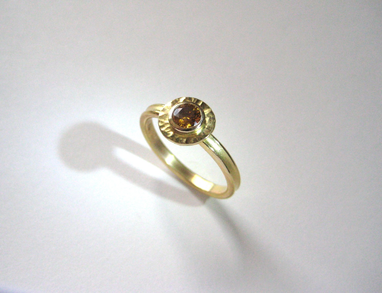 Natural Fancy Cognac Diamond Ring