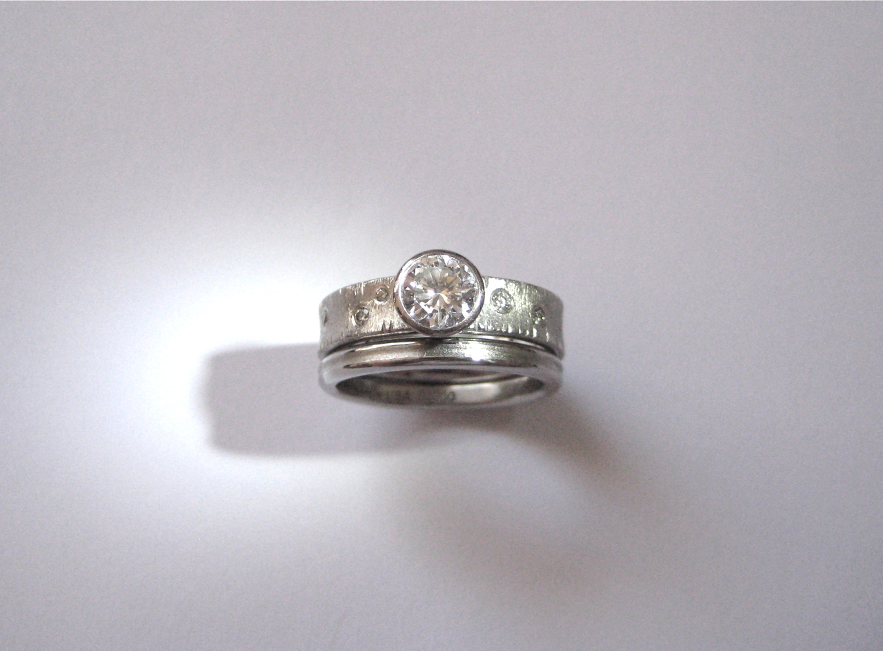 wedding sarah rings cut round w price engagement ring set bezel unique halo collection