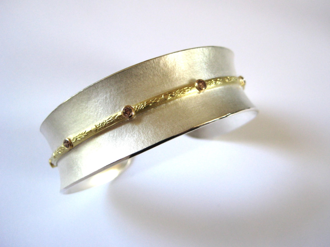 Sterling and Gold cuff bracelet