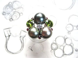 Nesting Pearls Ring