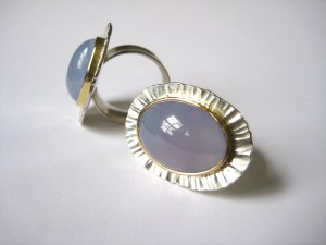 Blue Chalcedony Rings