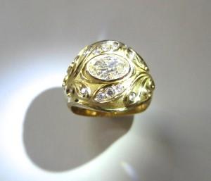 Nouveau Anniversary Ring