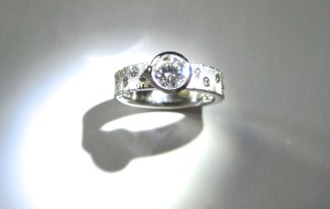 Palladium Diamond Engagement
