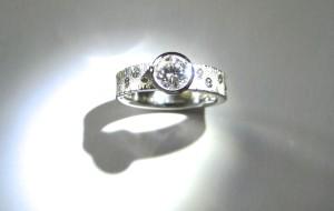 Palladium Diamond Engagement