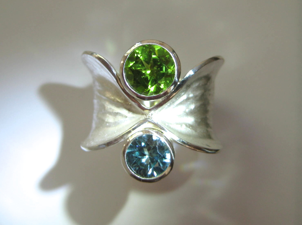Baby Birthstone Bow Ring