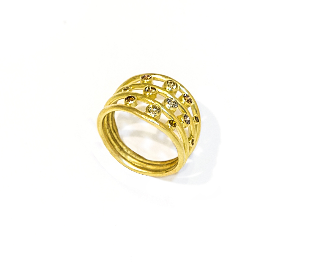 Diamond Entwined Ring