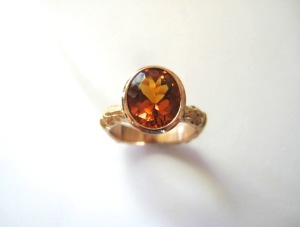 Citrine and Rose Gold