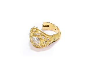 Art Nouveau Inspired Opening Ring