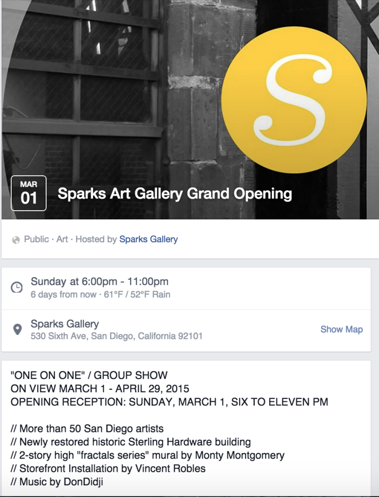 Sparks Gallery Opening