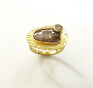 Radiant Raw Diamond Ring