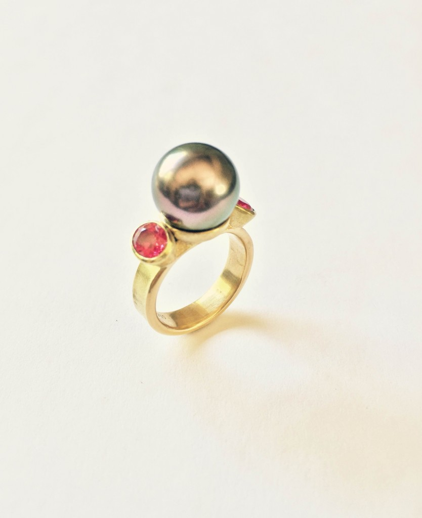 Blushing Tahitian Pearl Ring
