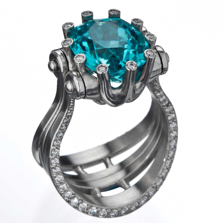 Platinum Paraiba Ring/Pendant