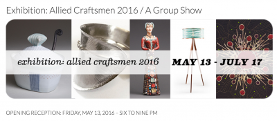 Allied Craftsmen Exhibition @ SPARKS Gallery