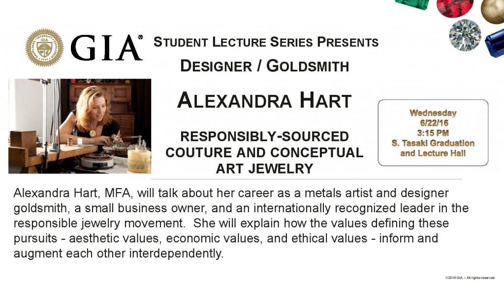 VALUE presentation at GIA