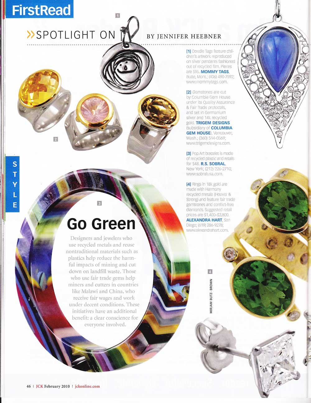 JCK Magazine Green Press