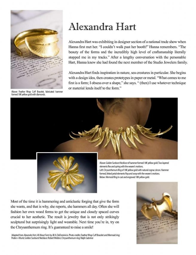 Studio Jewelers News