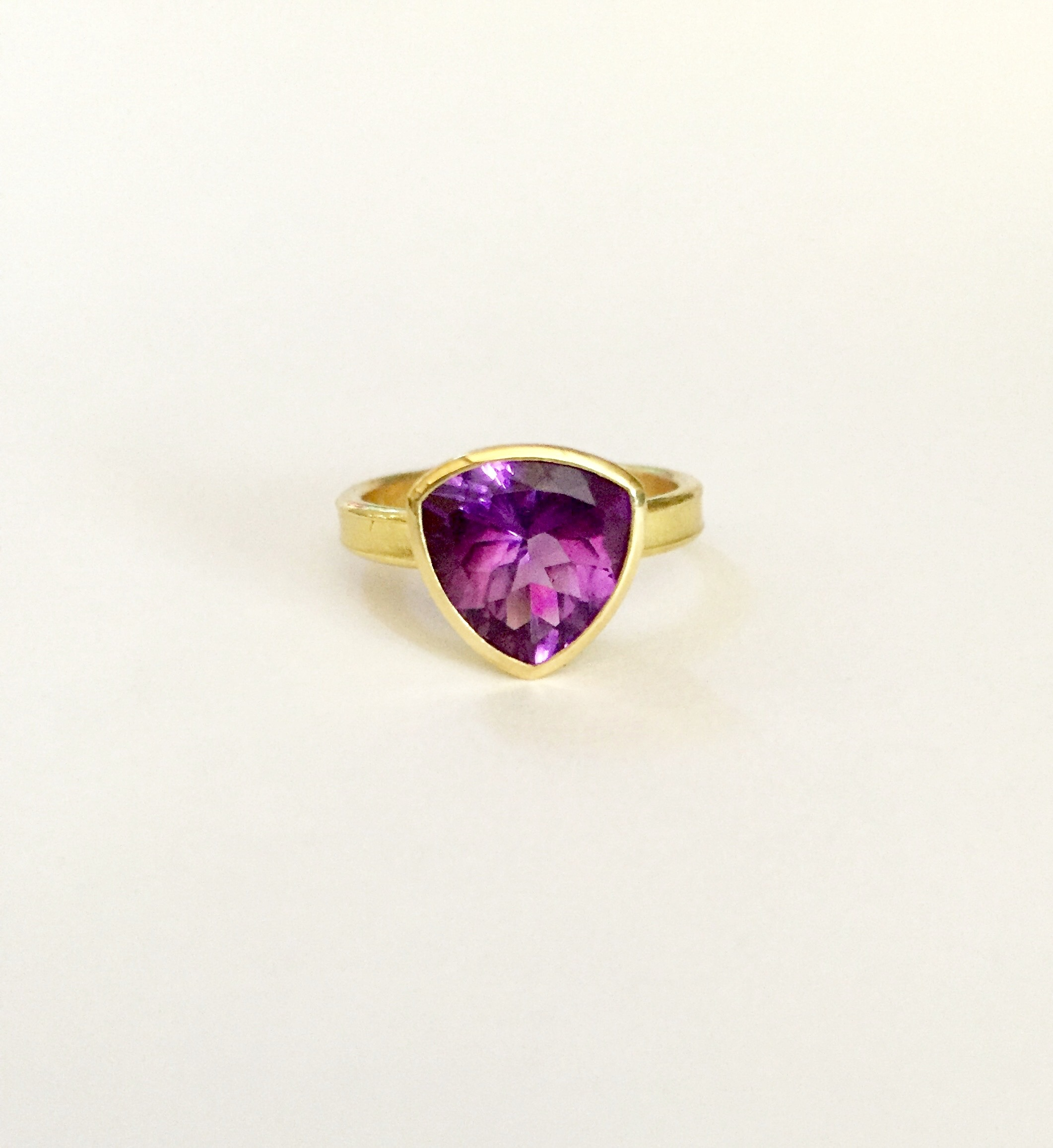 Fairtrade Trillion Amethyst Ring