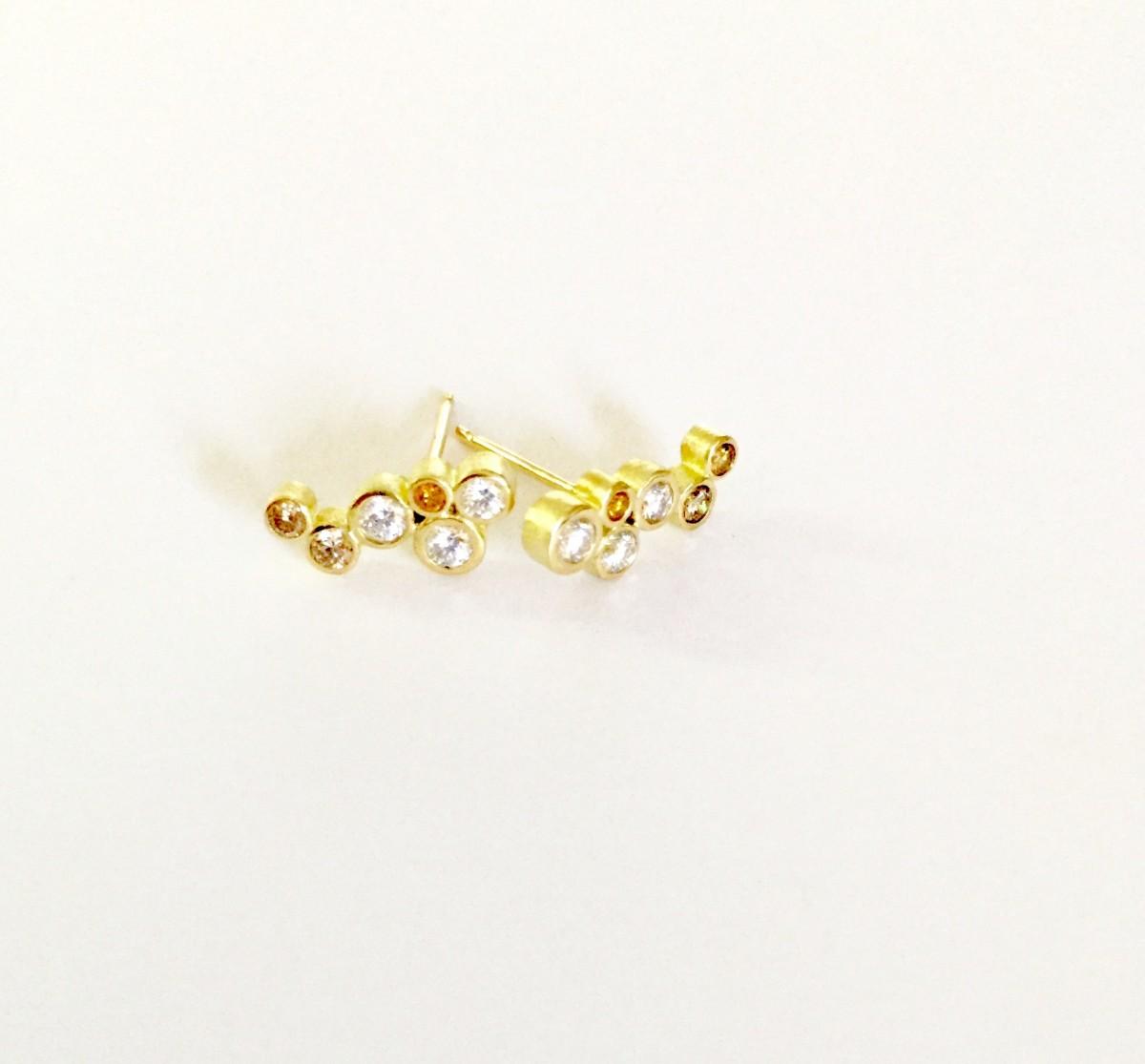 Natural Fancy Multi-Color Diamond Earrings
